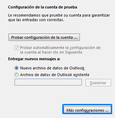 Configuración POP3